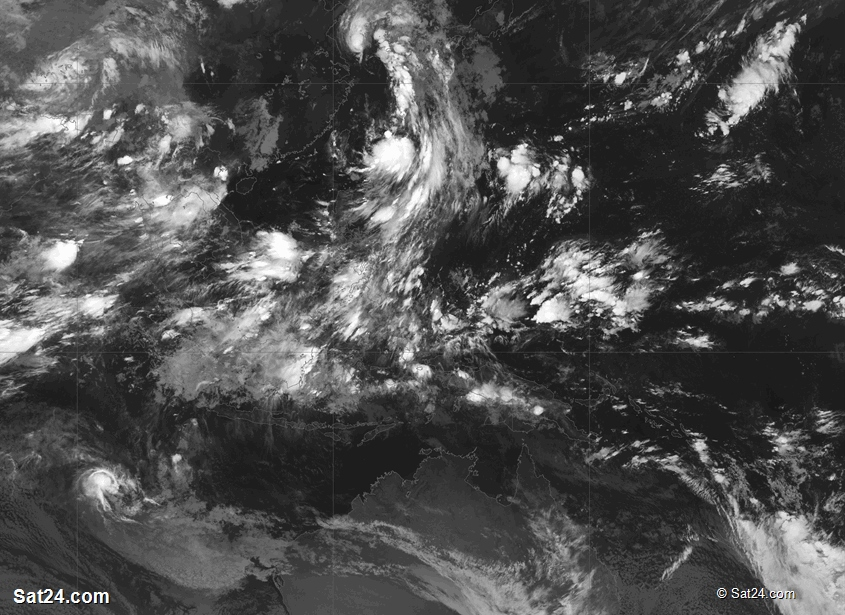 Pacific Ocean Satellite Weather Map.World Weather West Pacific Satellite Weather West Pacific Weather