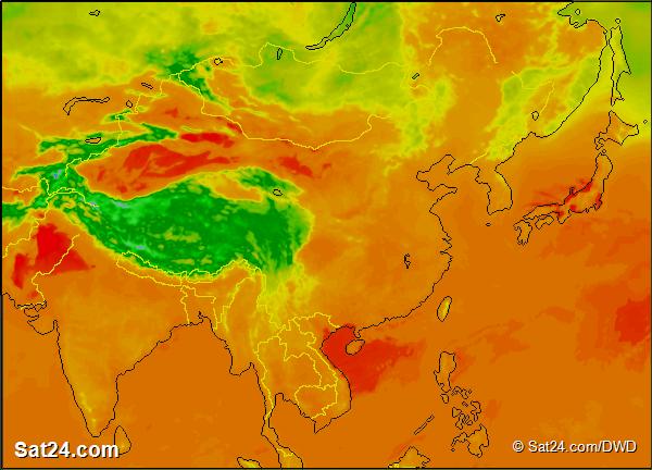 Forecast Weather Asia Satellite Weather Asia Weather Forecast - Asia satellite map