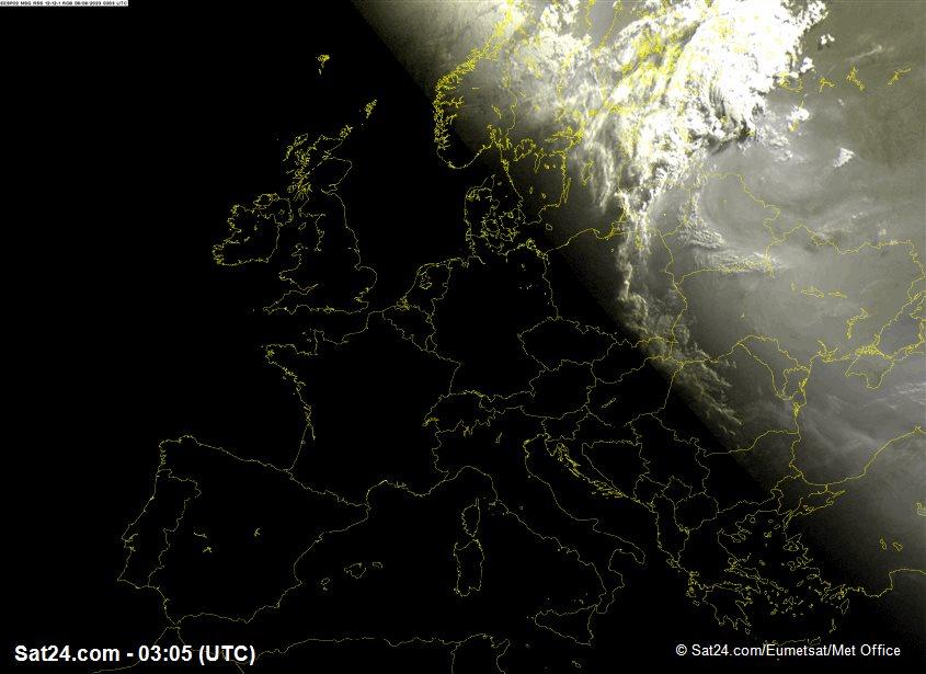 Meteosat - infraroja - Egipte