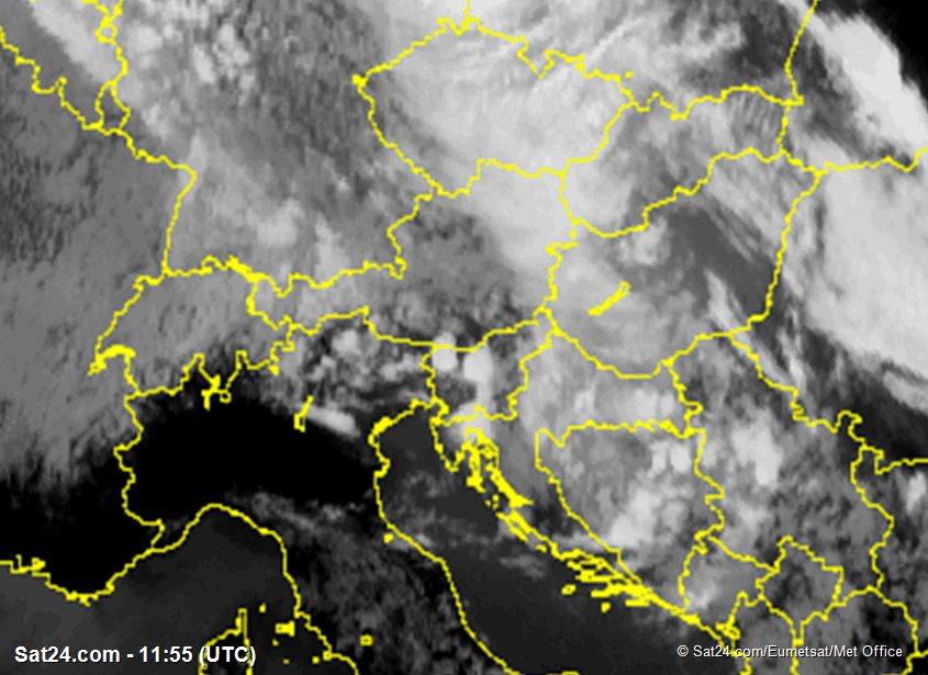 Meteosat - infrared - Switzerland - Austria