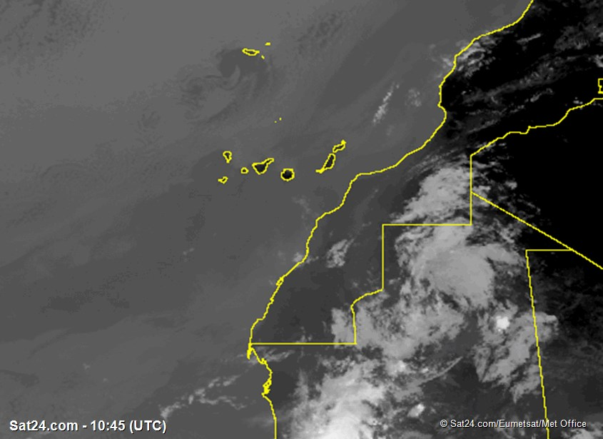 Meteosat - infrared - Madeira - Canary Islands