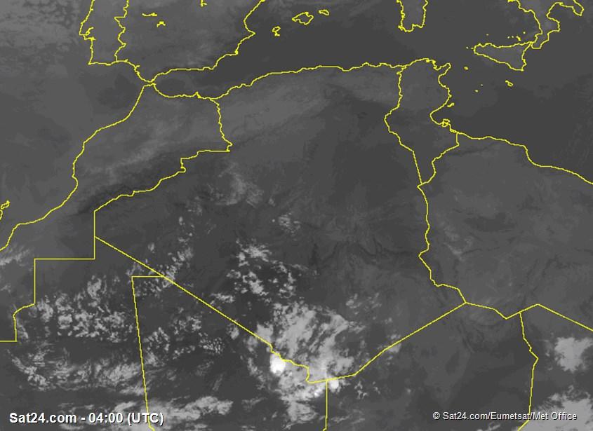 Meteosat - infraroşu - Algeria - Tunisia