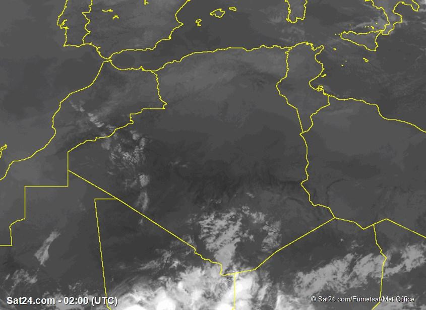 Meteosat - infrarött - Algeriet - Tunisien