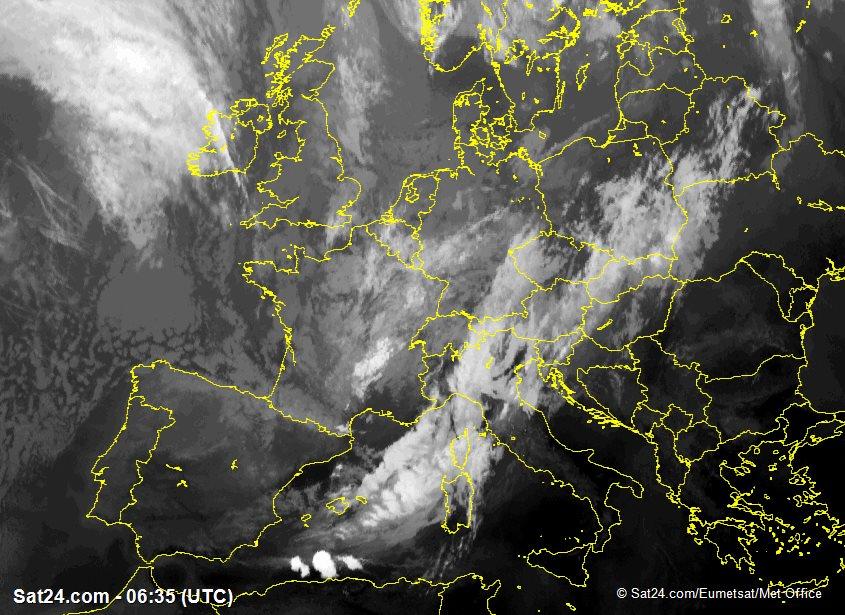 Meteosat - infraroja - Regne Unit - Irlanda