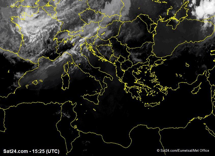 Meteosat - infrarosso - Italia