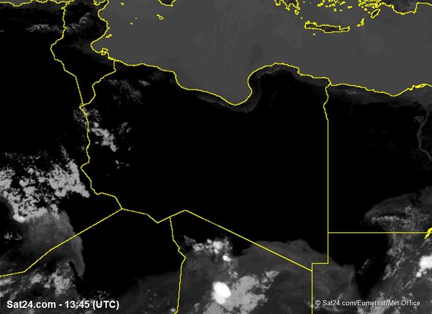 Meteosat - infrarood - Libië