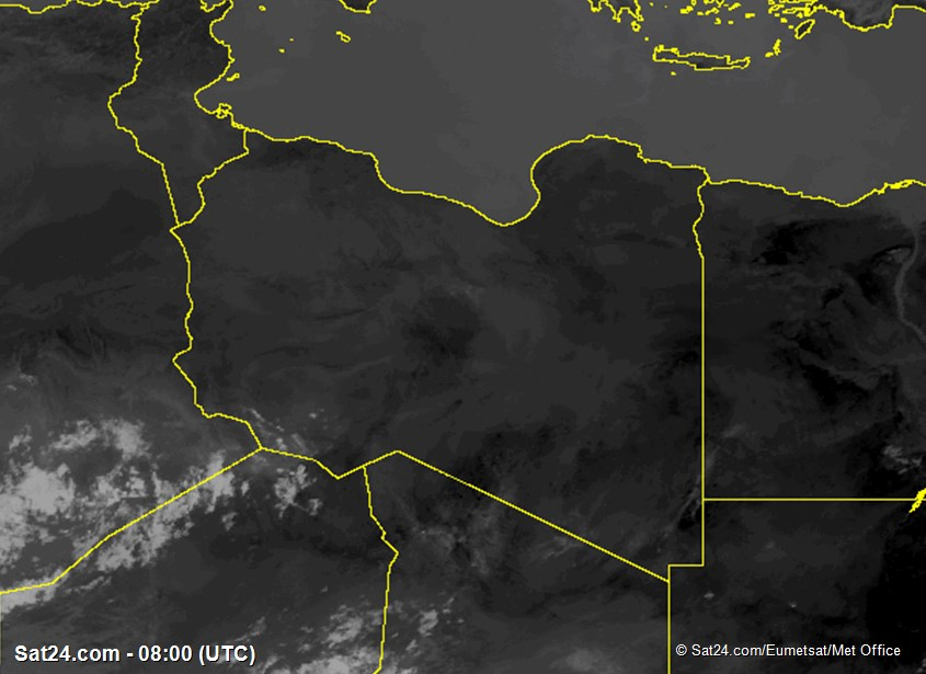 Meteosat - infrarosso - Libia