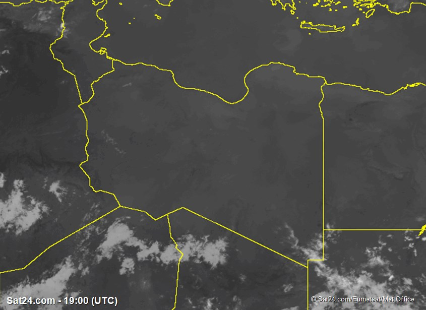 Meteosat - infrapuna - Libya