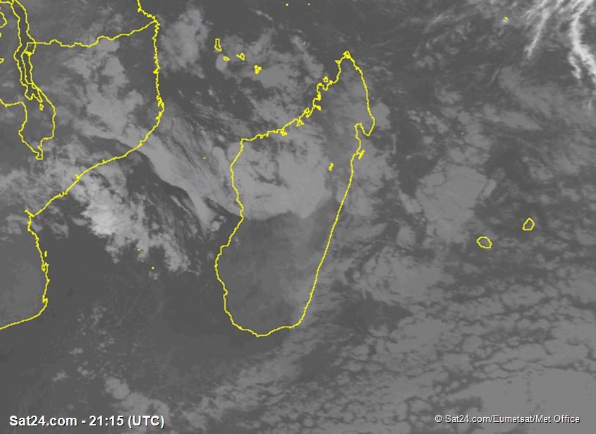 Meteosat - infrarood - Madagaskar - Réunion - Mauritius
