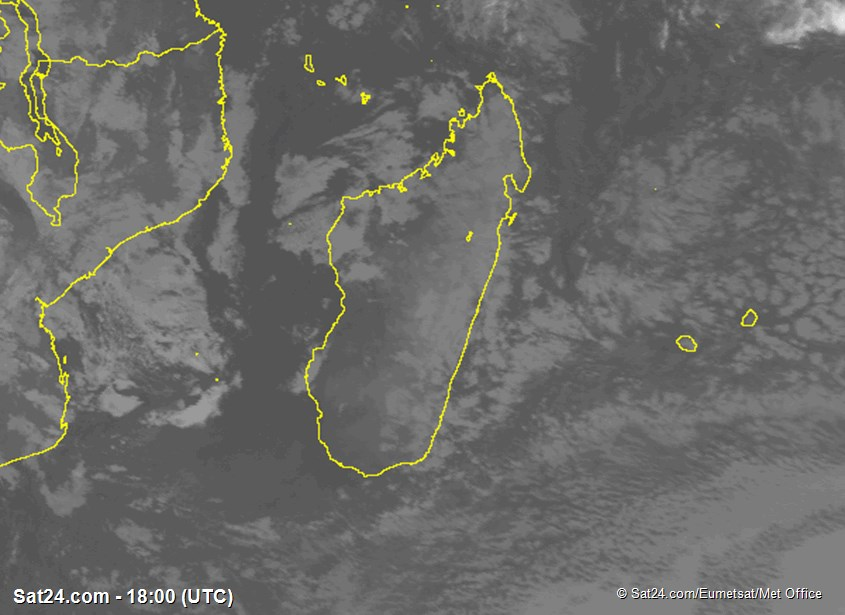 Meteosat - kızılötesi - Madagaskar - Réunion - Mauritius