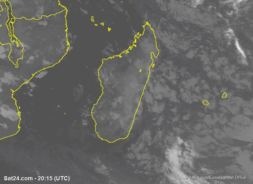 Meteosat - infrared - Madagascar - Réunion - Mauritius