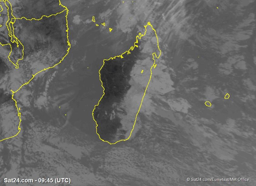 Meteosat - ИК - Мадагаскар - Реюньон - Маврикий