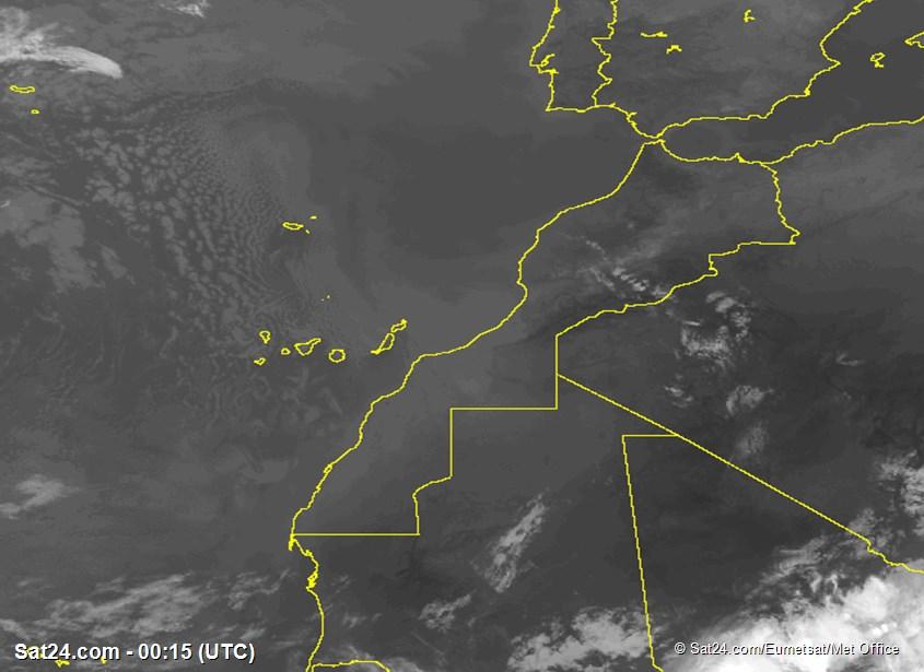 Meteosat - infrarood - Marokko