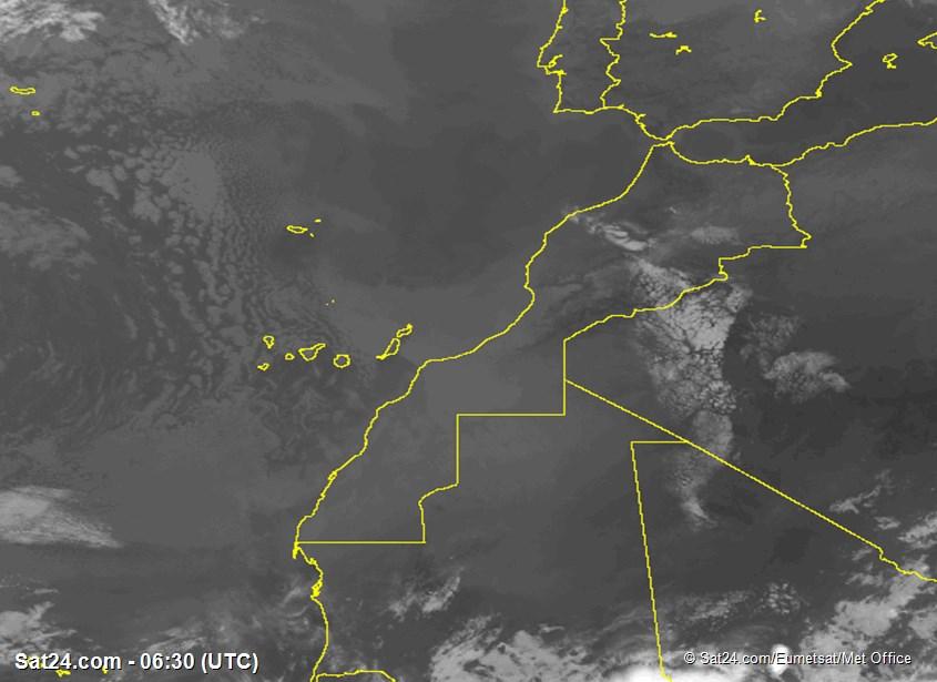 Meteosat - أشعة تحت الحمراء - المغرب