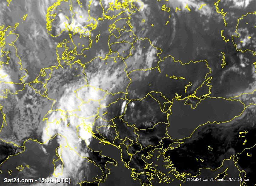 Meteosat - infrared - Poland