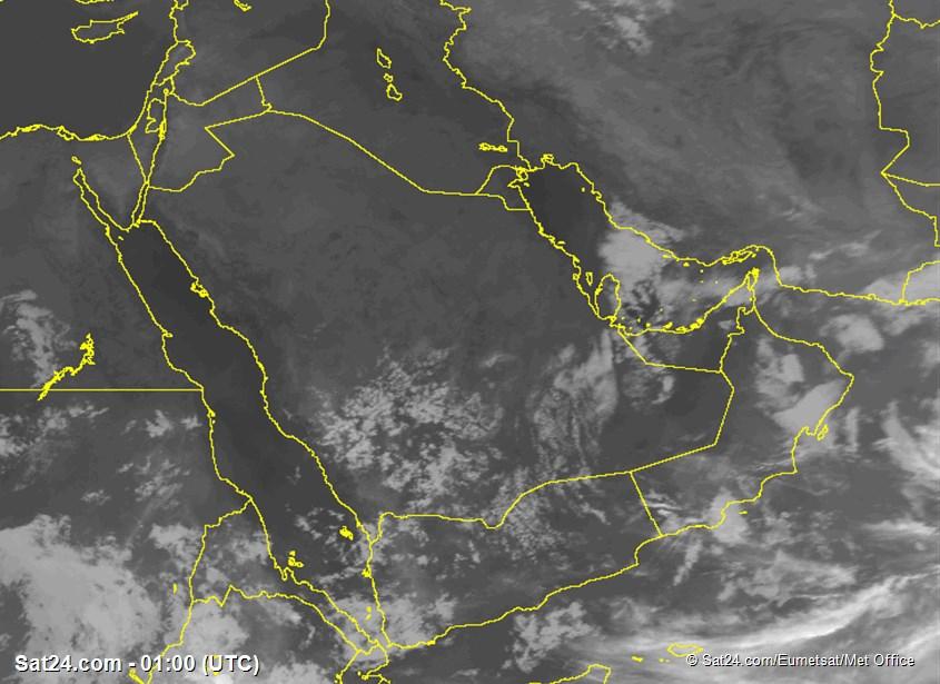 Infrared satellite images of Saudi Ariaba, Clouds in Saudi