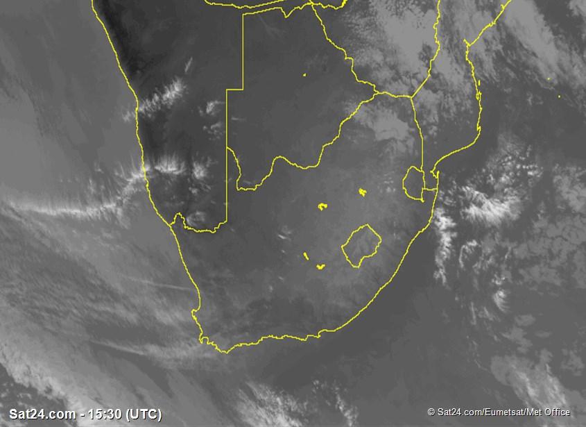 Carte Satellite Afrique Du Sud.Images Satellite Infrarouge De Afrique Du Sud Nuages Dans