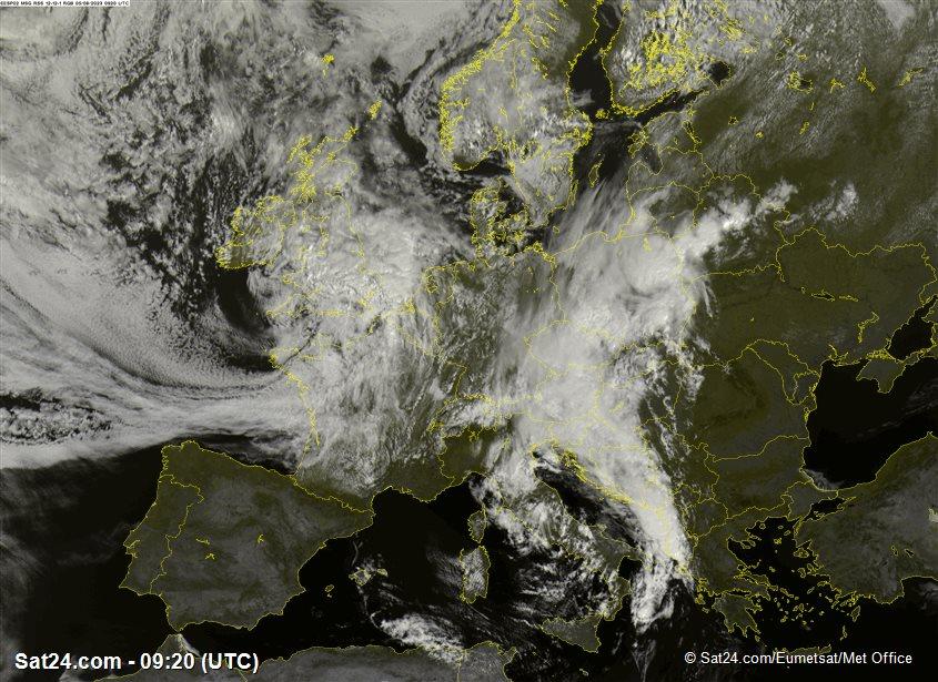Meteosat - widzialne - Wielka Brytania - Irlandia