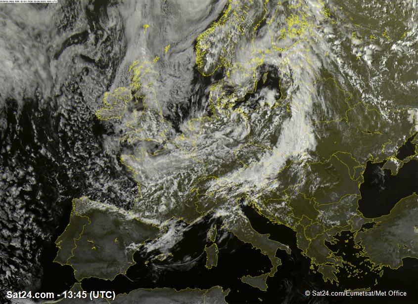 Meteosat - widzialne - Polska