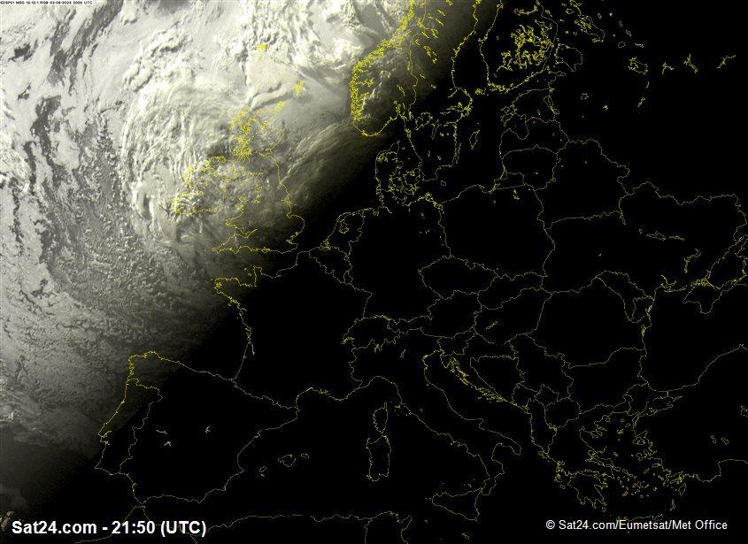 Meteosat - visible - España - Portugal