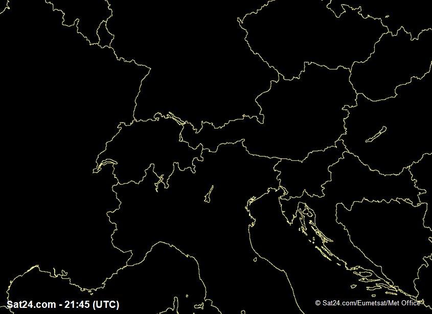 Meteosat - widzialne - Szwajcaria - Austria