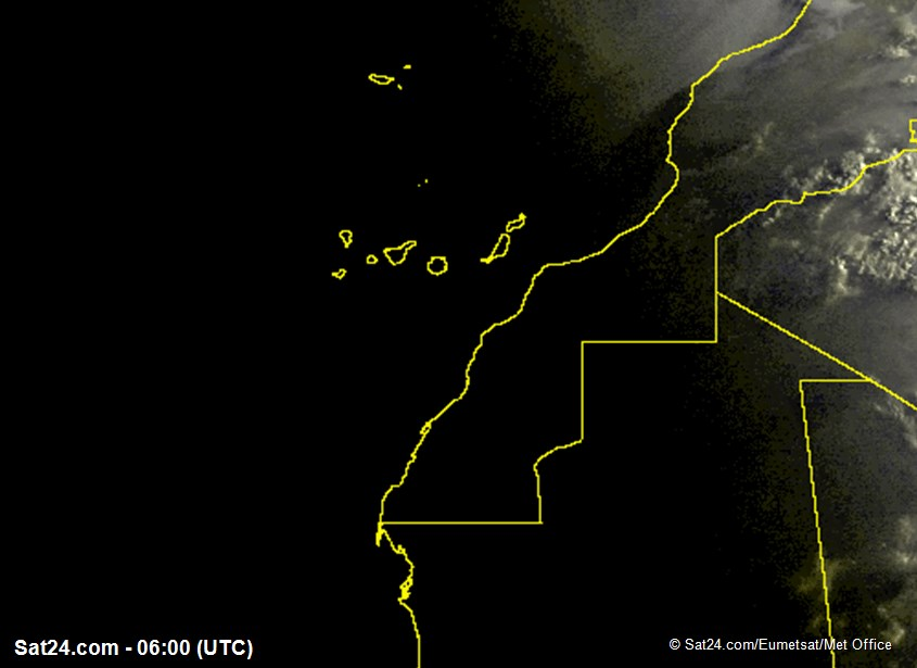 Meteosat - visible - Madeira - Canary Islands