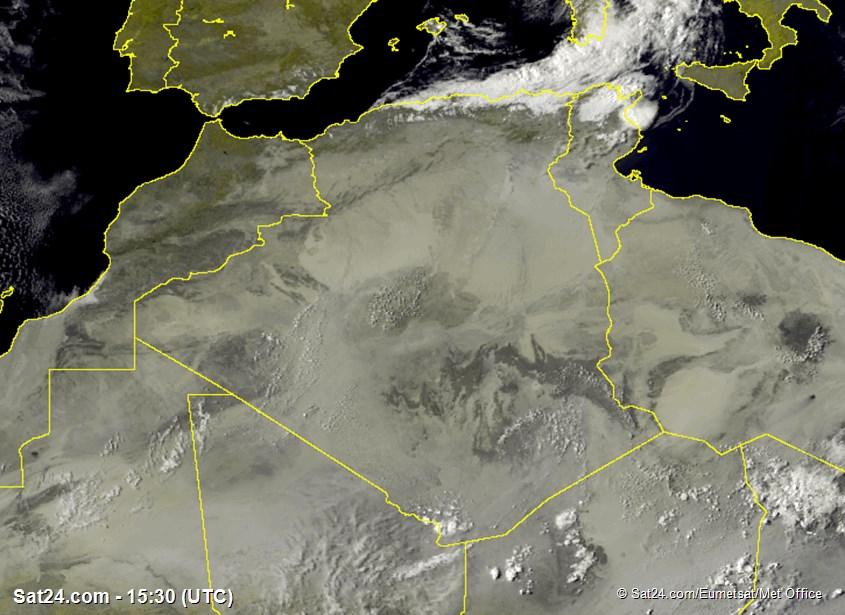 Meteosat - visible - Argelia - Túnez