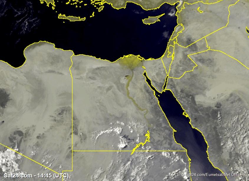 Meteosat - viditelné - Egypt