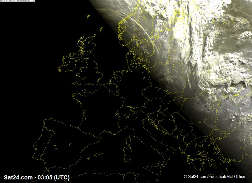 Meteosat - visible - Europe