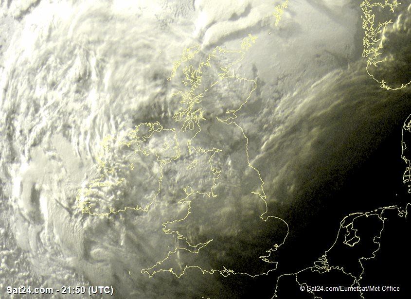 Meteosat - visible - Royaume-Uni - Irlande