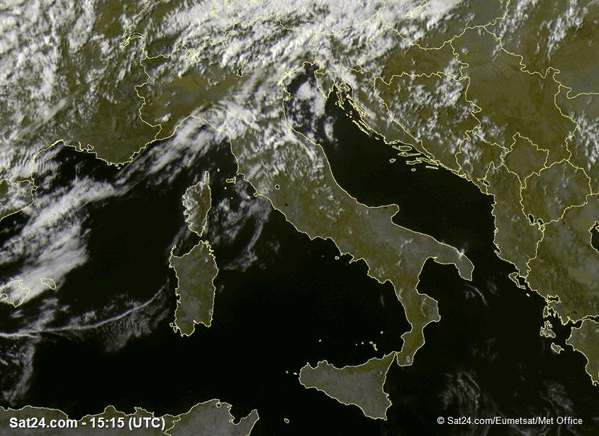 Meteosat - visible - Italie