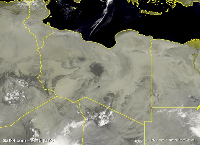 Meteosat - görünür - Libya