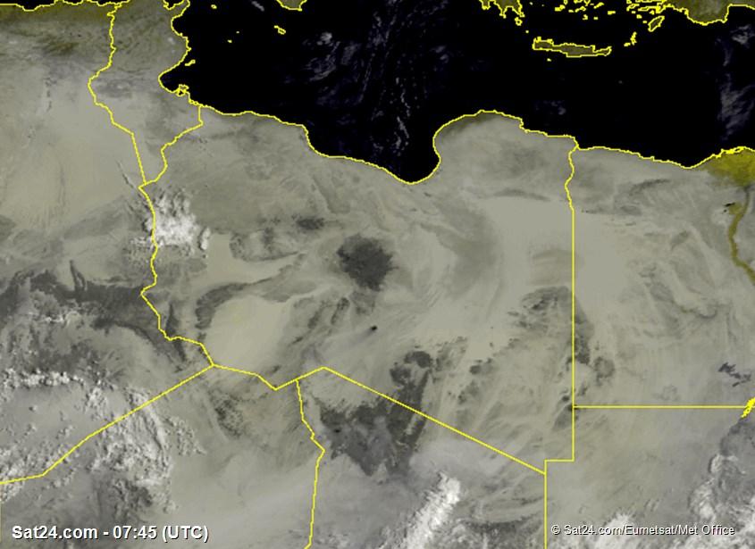 Meteosat - näkyvä - Libya