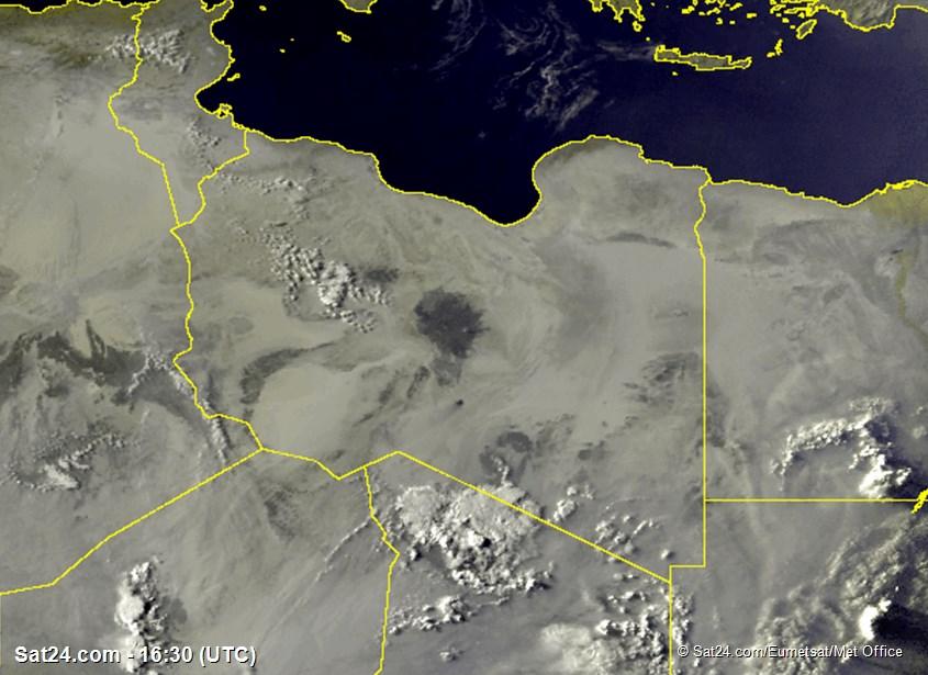 Meteosat - visible - Libia