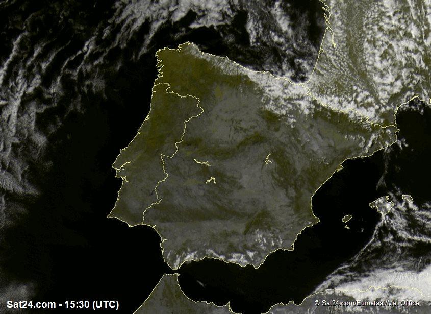 Meteosat - synlig - Spanien - Portugal