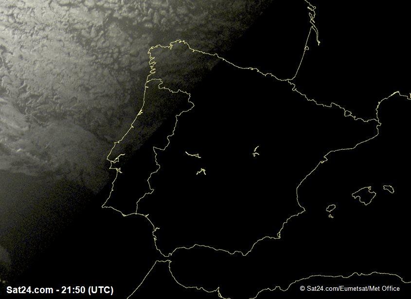 Meteosat - 가시 - 스페인 - 포르투갈