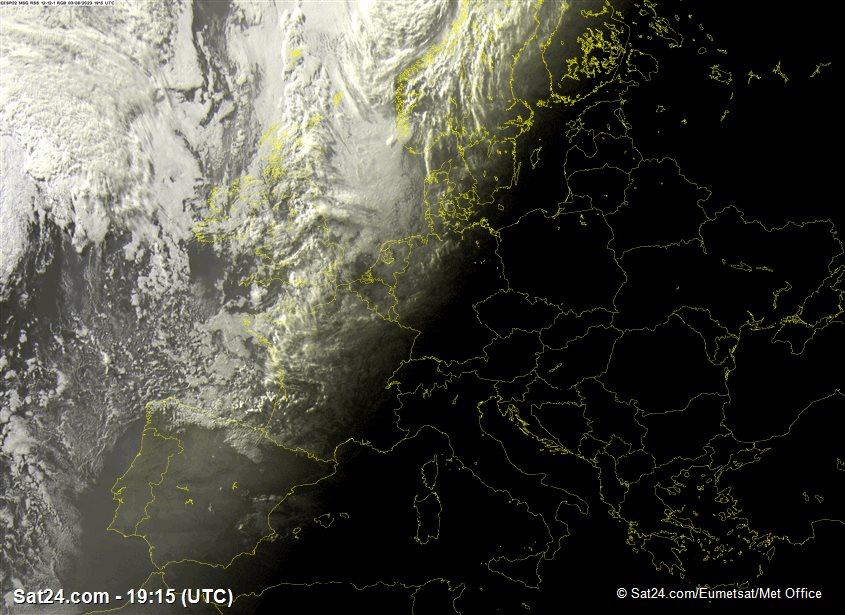 Image satellite  france regions Centre - Val de Loir et Centrales
