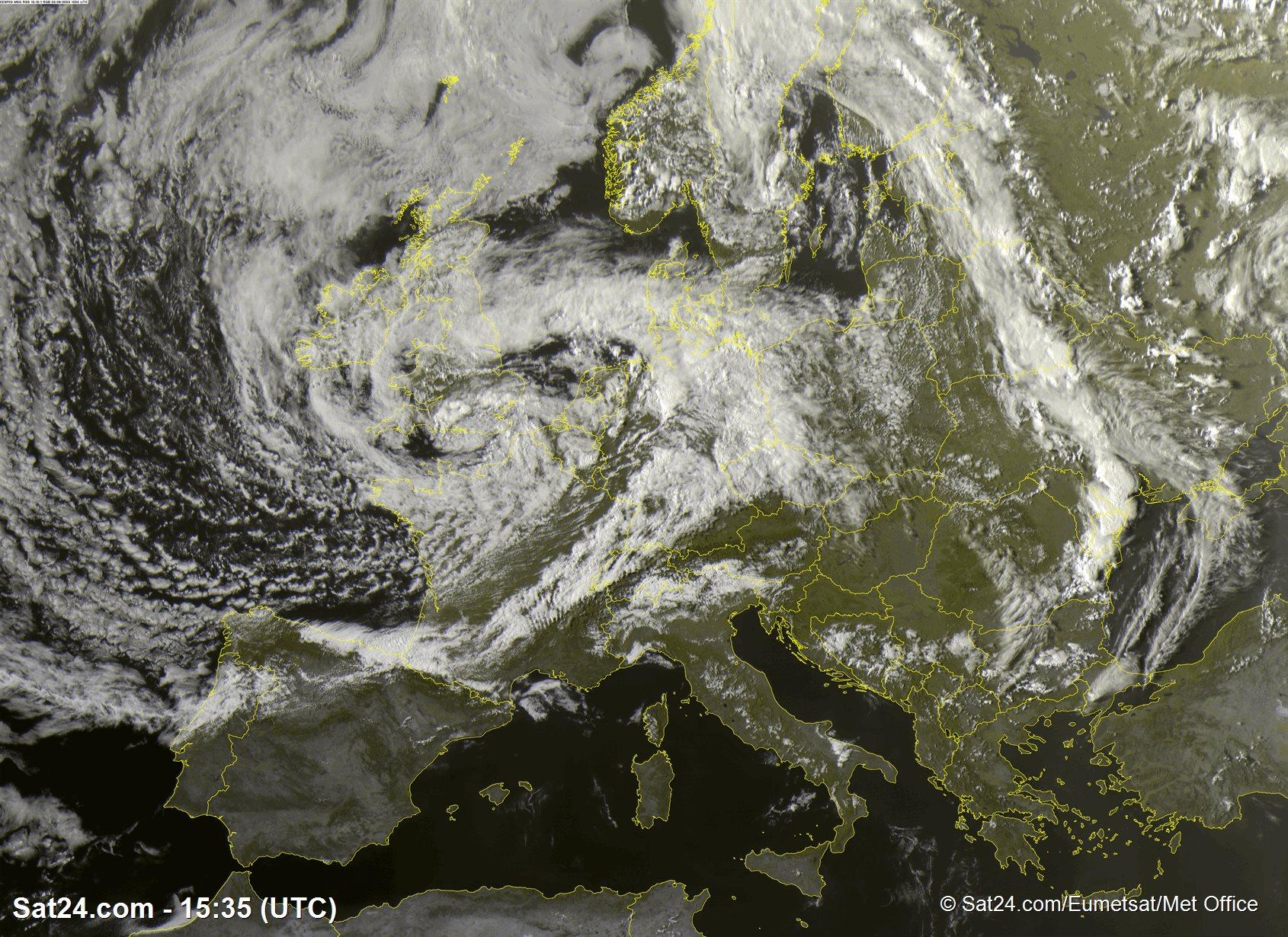 HD Satelliebeeld van geheel Europa