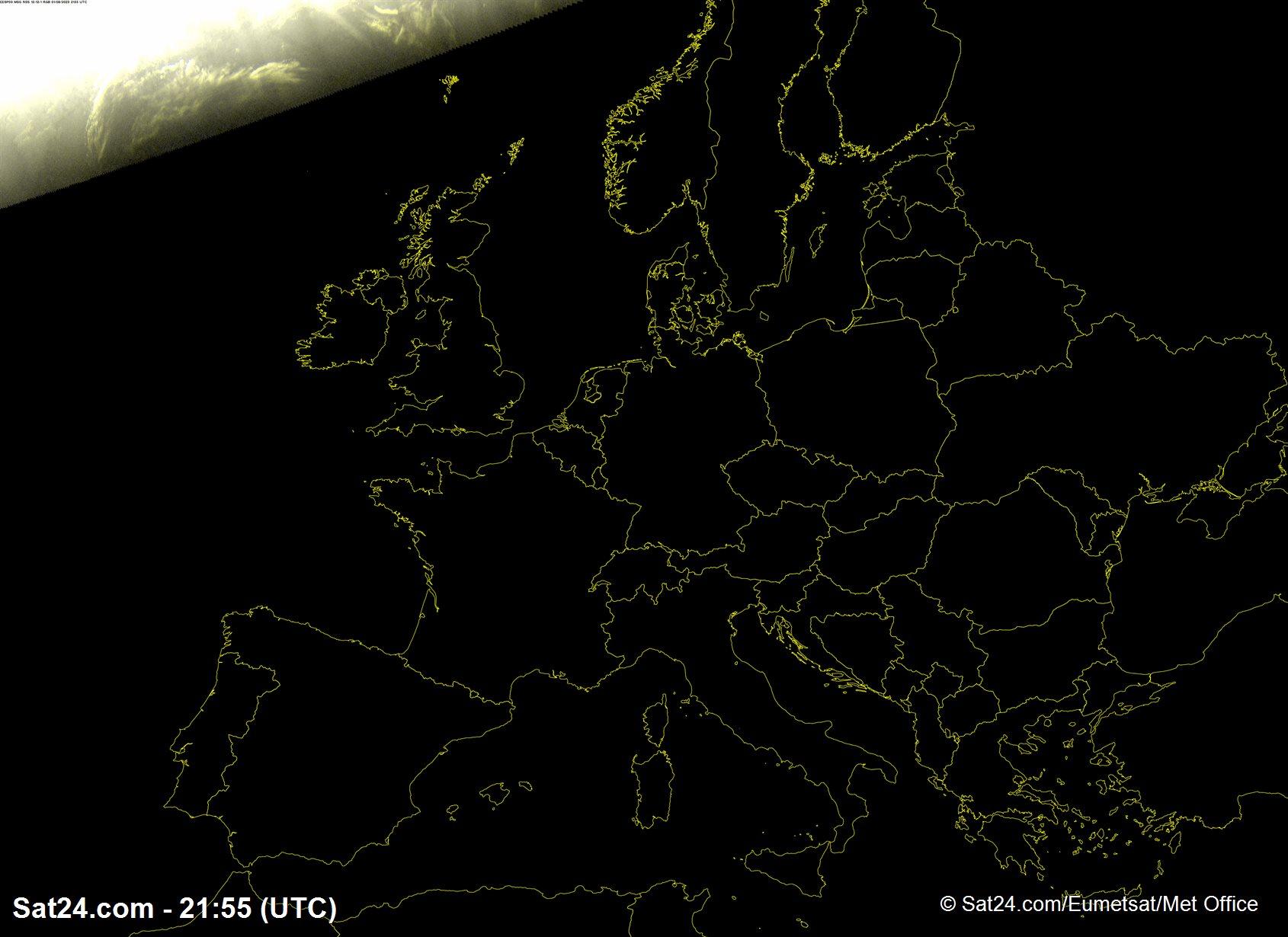 Image satellite france et europe